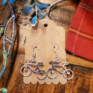 Silver Bike Earrings